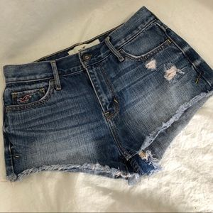Hollister Denim Jean Cut Off Shorts  29